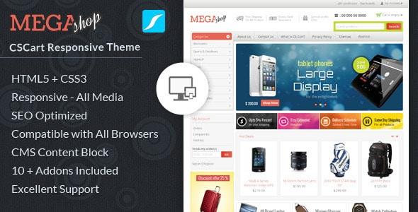 mega shop - cs-cart responsive theme