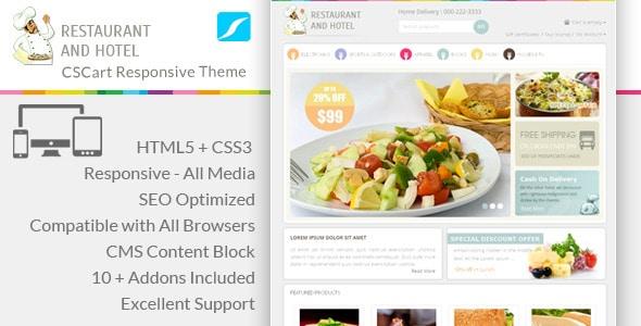 restaurant - responsive cs-cart theme