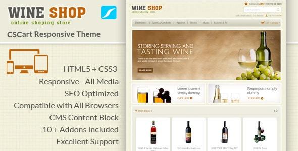 wine shop - cs cart responsive theme
