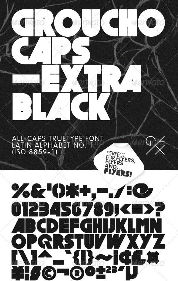 grouchocaps - extra black