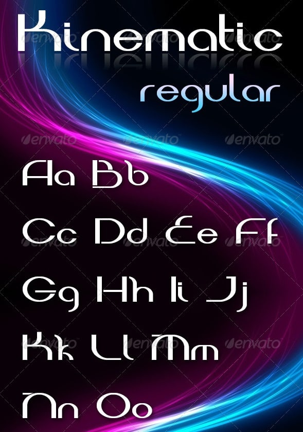 kinematic font