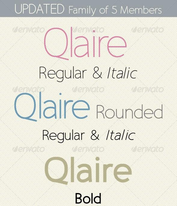 qlaire; clean, modern, fresh font family