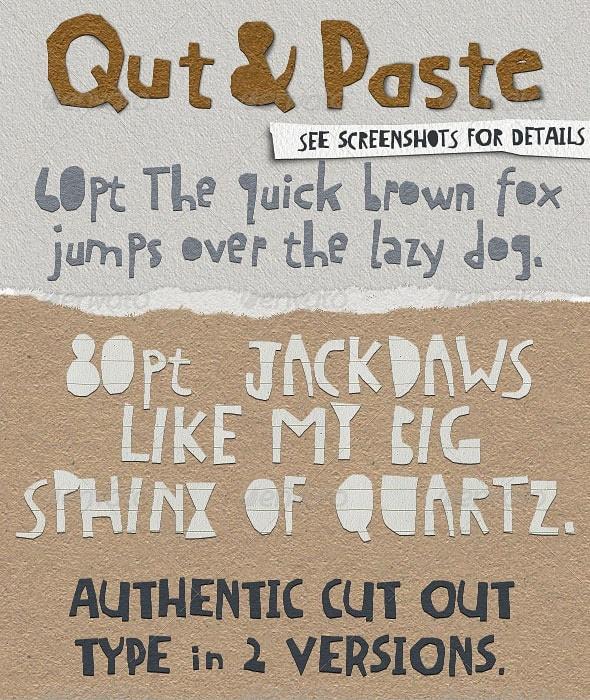 qut&paste: paper collage cutout typeface