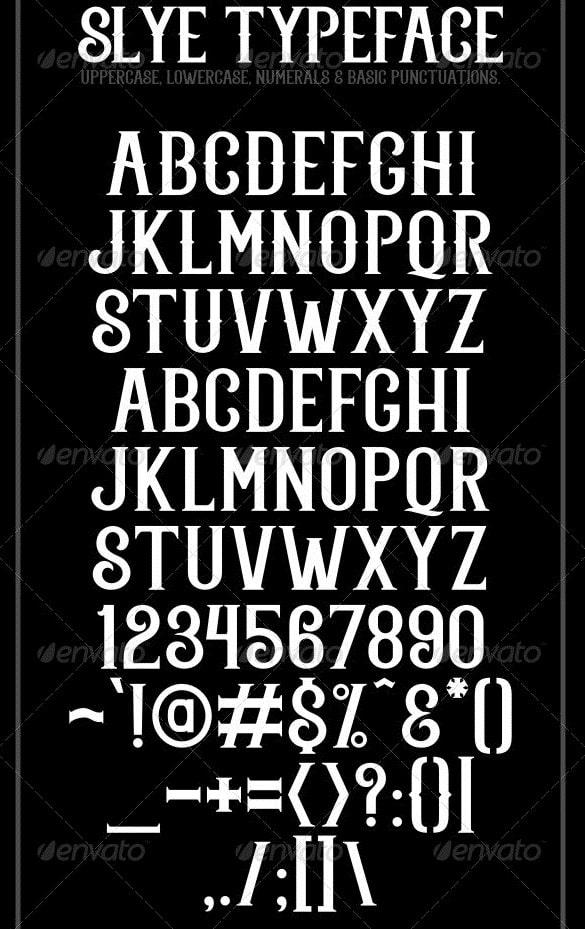 slye typeface
