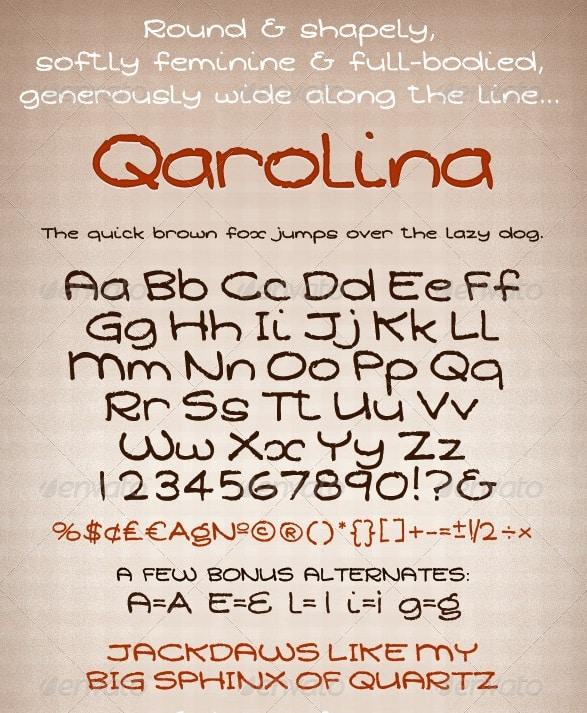 soft round feminine font - qarolina