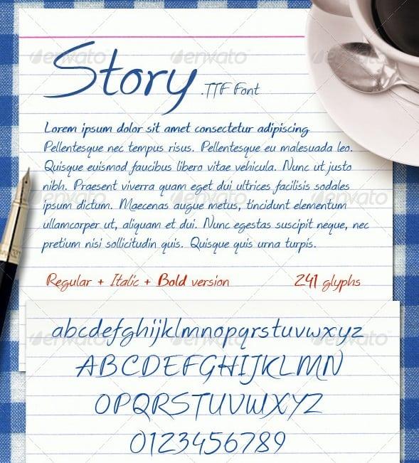 story font