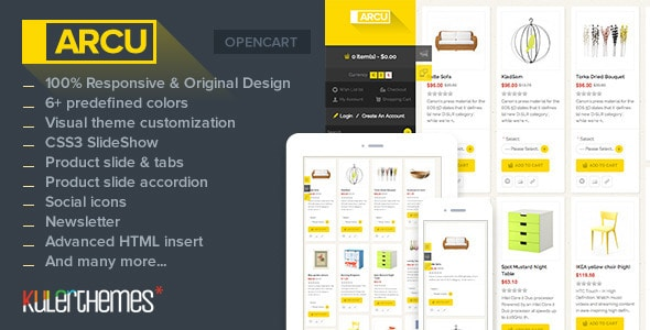 arcu – responsive template for opencart store