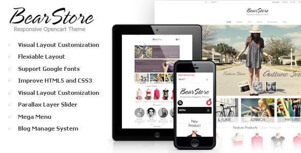 bearstore - opencart responsive theme