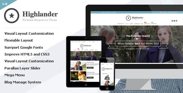 highlander - opencart responsive theme
