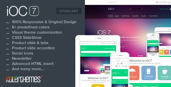 ioc7 – a responsive theme with modern flat design