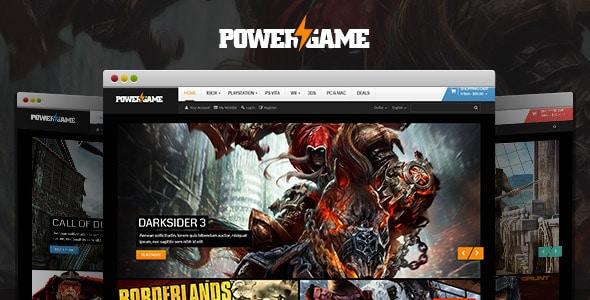 lexus powergame responsive opencart theme