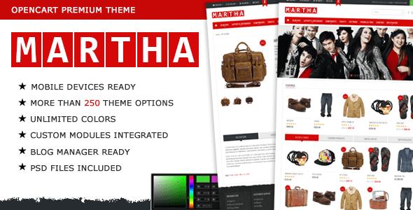 martha - opencart premium theme