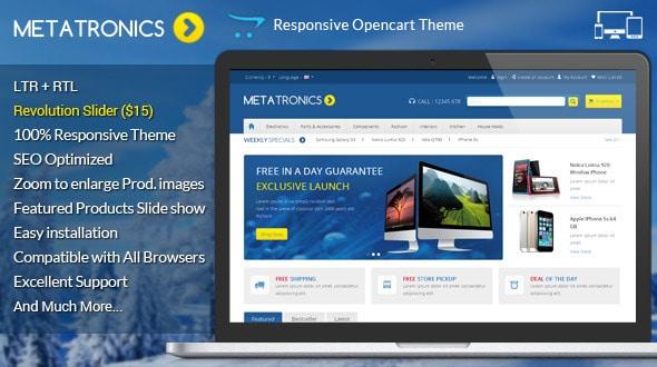 meta tronics - opencart responsive theme