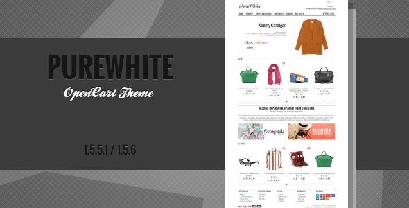 purewhite - premium opencart theme