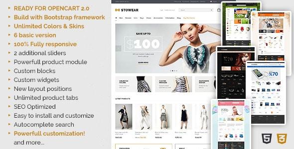 stowear - modern & responsive opencart theme