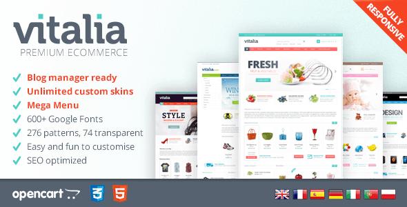 vitalia - responsive opencart template