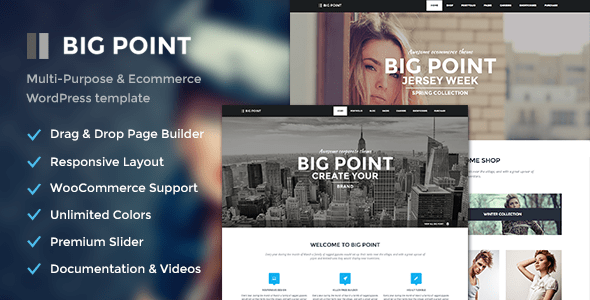 big point - multi-purpose & ecommerce theme