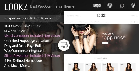 lookz - woocommerce parallax theme