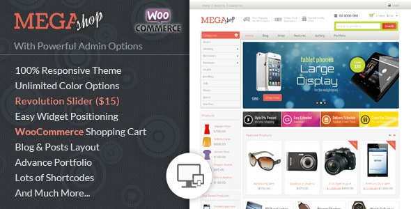 mega shop - woocommerce responsive theme