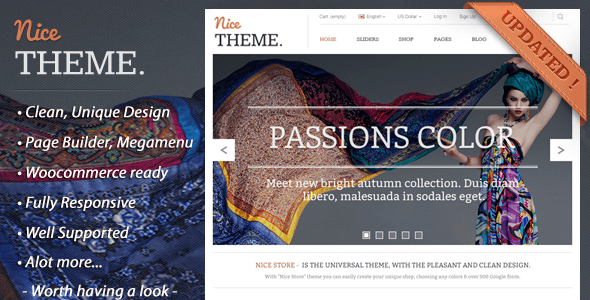nicetheme fashion - ecommerce shop wordpress theme