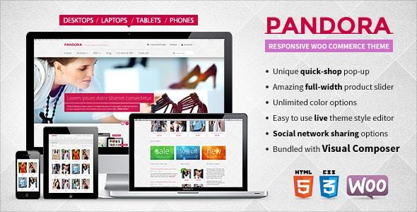 pandora — responsive woocommerce html5 theme