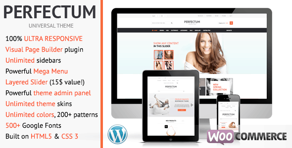 perfectum - flexible responsive woocommerce theme