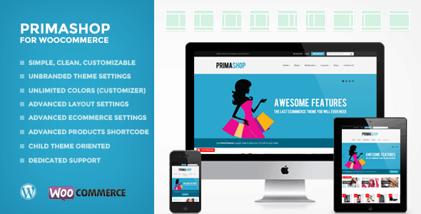 primashop - clean woocommerce wordpress theme