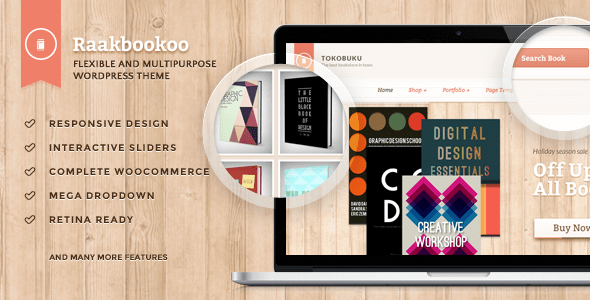 raakbookoo - woocommerce theme for book store