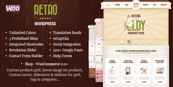 retro - premium vintage wordpress theme
