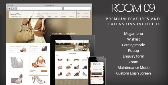 room 09 shop - multi-purpose e-commerce theme