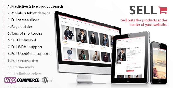 sell: responsive ecommerce wordpress theme