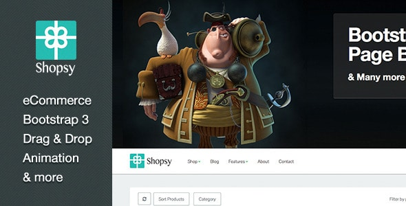 shopsy - responsive ecommerce theme