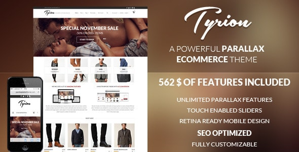 tyrion - flexible parallax e-commerce theme