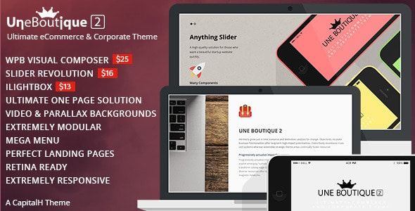 une boutique ultimate ecommerce & corporate theme