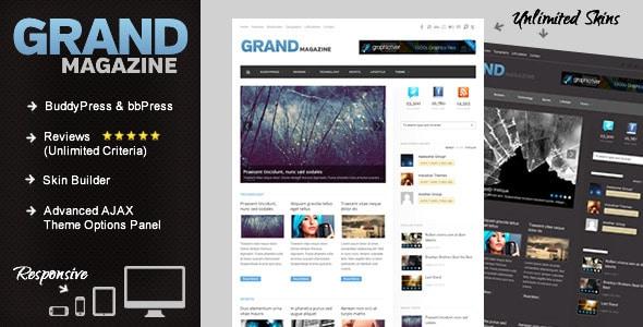 grandmag - buddypress magazine/review theme