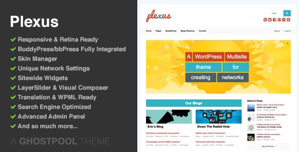 Cool WordPress BuddyPress Themes - 56pixels.com