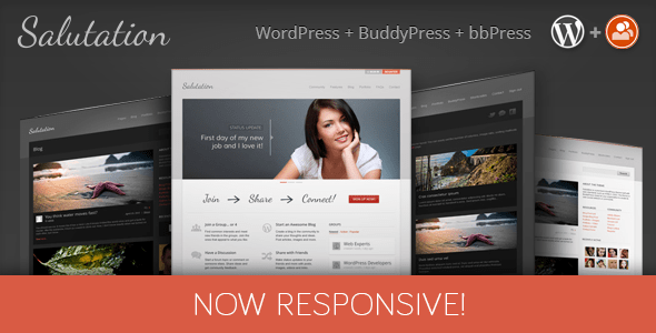 salutation responsive wordpress + buddypress theme