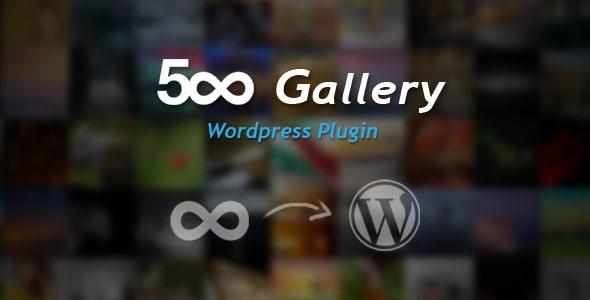 500px gallery - wordpress plugin