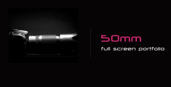 50mm - full screen portfolio