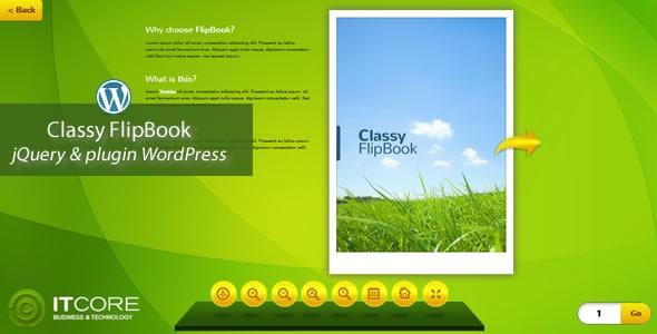classy flipbook jquery&pluginwordpress