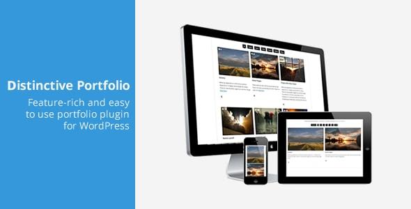 distinctive portfolio - 4 in 1 wordpress portfolio