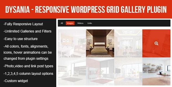 dysania - responsive wordpress grid gallery plugin