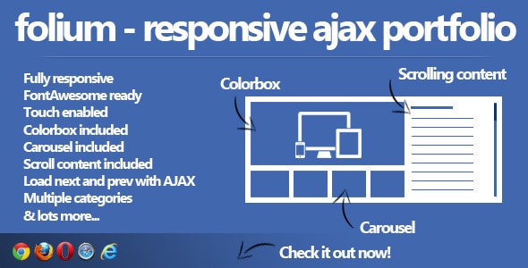 folium - responsive ajax portfolio