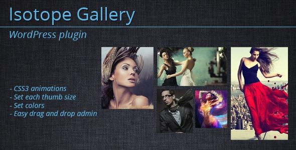 isotope gallery - wordpress plugin