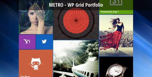 metro - wordpress grid portfolio