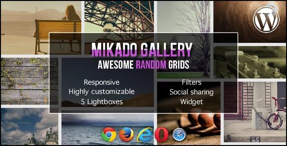 mikado grid gallery for wordpress