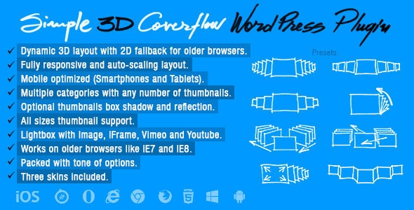 simple 3d coverflow wordpress plugin