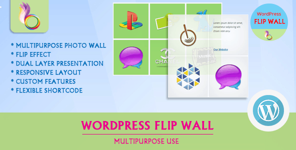wordpress flip wall - multipurpose use