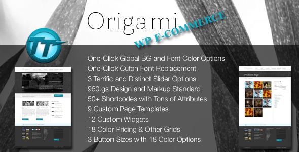 origami wordpress - wp e-commerce theme