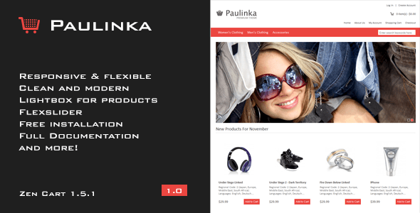 paulinka - elegant & responsive zen cart theme